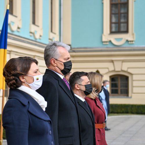 G. Nausėda tęsia vizitą Ukrainoje