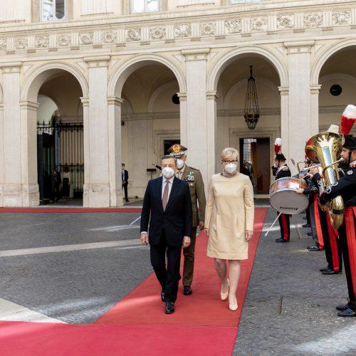 Premjerės I. Šimonytės vizitas Italijoje