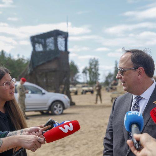 """Karinės pratybos """"Grifono kirtis 2020""""  © I. Budzeikaitės / KAM, M. Morkevičiaus / ELTOS nuotr."""
