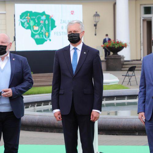 Žaliųjų idėjų festivalis Prezidentūroje  © D. Labučio / ELTOS, R. Dačkaus / Prezidentūros nuotr.