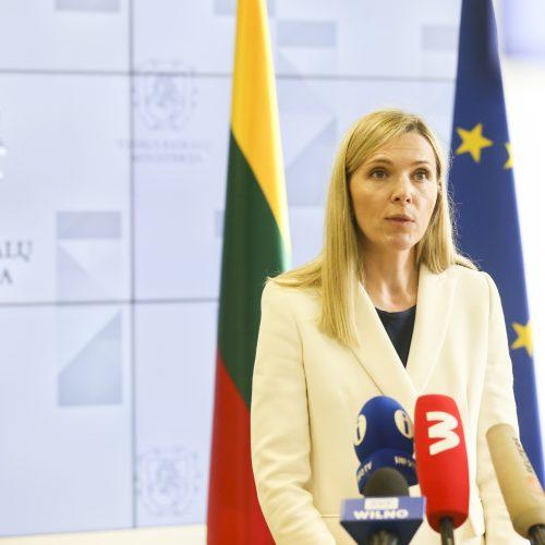 VRM spaudos konferencija dėl migrantų