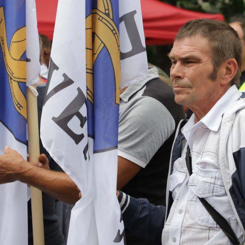 Protestas prie Vyriausybės prieš migrantus  © D. Labučio / ELTOS nuotr.