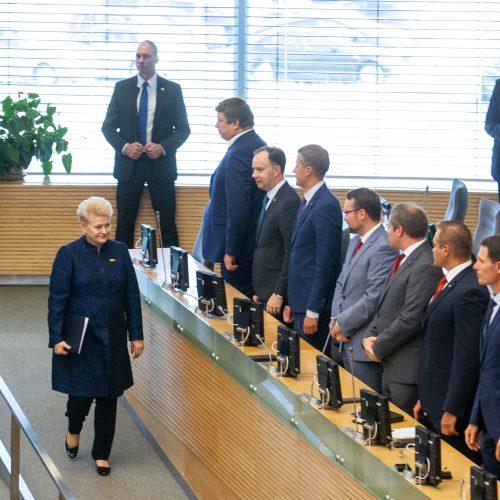D. Grybauskaitės paskutinis metinis pranešimas