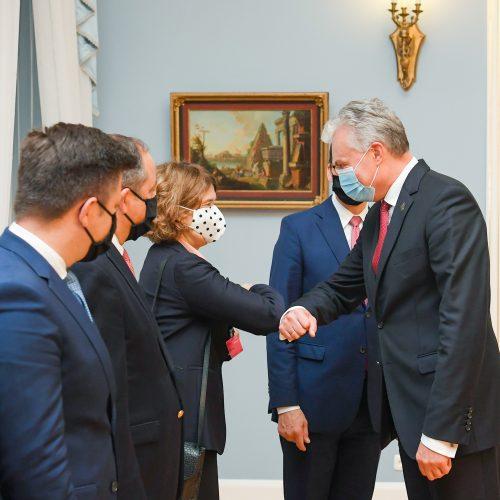 G. Nausėda susitiko su Lenkijos premjeru  © R. Dačkaus / Prezidentūros nuotr.