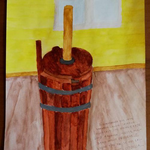 """Piešinių konkurso """"Daiktai pasakoja istorijas"""" laimėtojai ir diplomantai: 11-16 m. amžiaus kategorija  ©"""