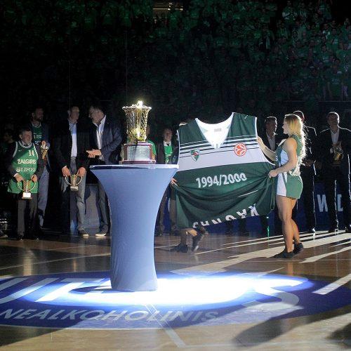 1999 metų Eurolygos nugalėtojų pagerbimas  © Evaldo Šemioto nuotr.