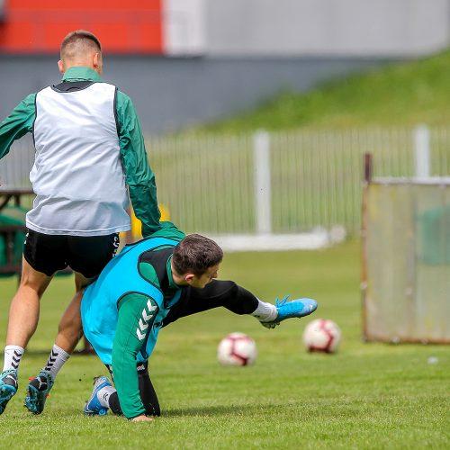 """""""Kauno Žalgirio"""" futbolininkų treniruotė  © Evaldo Šemioto nuotr."""