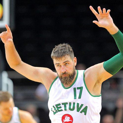 Krepšinis. Lietuva – Serbija 91:95