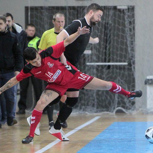"""Futsalo A lyga: """"Vytis"""" – """"Turbotransfers"""" 0:1, 5:0  © Evaldo Šemioto nuotr."""