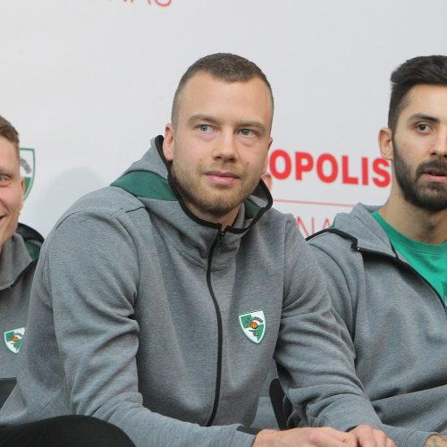 """Kauno """"Žalgirio"""" komandos pristatymas  © Evaldo Šemioto nuotr."""