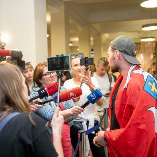 """J. Veklenko grįžo iš """"Eurovizijos""""  © P. Peleckio/Fotobanko nuotr."""