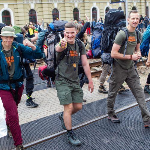 """Išlydėti ekspedicijos """"Misija Sibiras"""" dalyviai   © P. Peleckio/Fotobanko nuotr."""