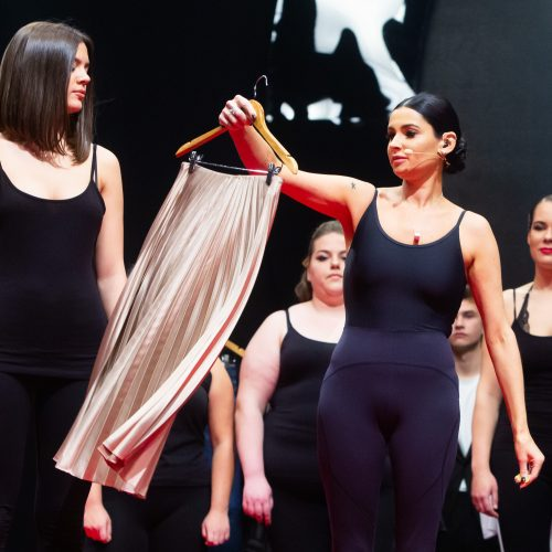 """A. Jagelavičiūtės stiliaus šou """"Lažinamės, tu turi ką apsirengti""""  © G. Skaraitienės / Fotobanko nuotr."""