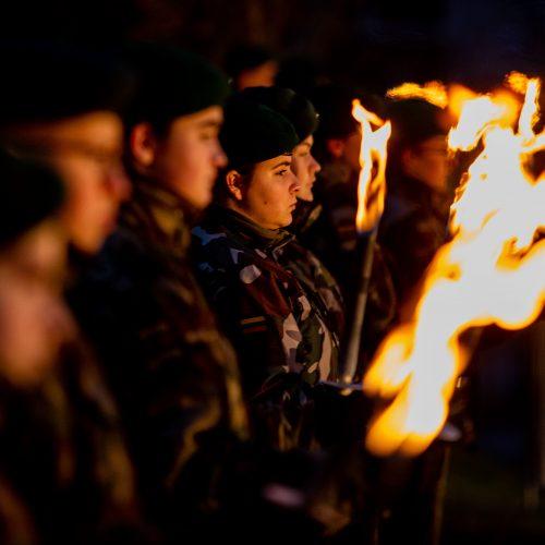 Atminimo laužų uždegimo ceremonija Vilniuje