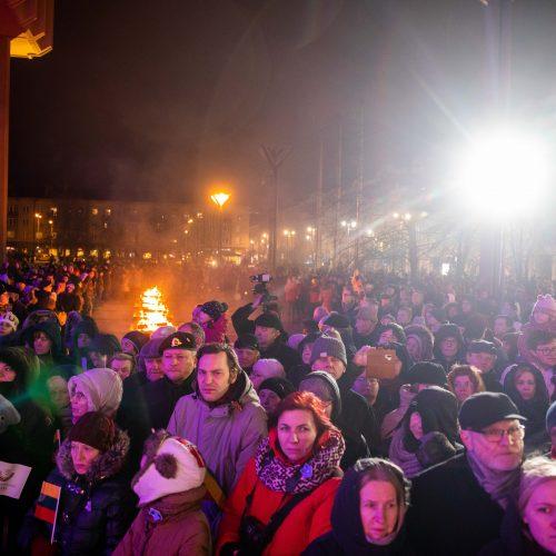 Atminimo laužų uždegimo ceremonija Vilniuje  © I. Gelūno / Fotobanko nuotr.