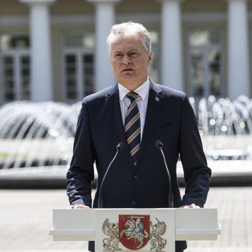 """G. Nausėda ir R. Šimašius pristatė iniciatyvą """"Vilnius atviras kultūrai""""  © P. Peleckio / Fotobanko nuotr."""