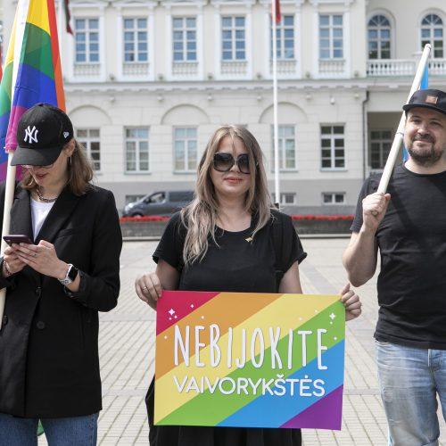 LGBT bendruomenė surengė prezidento padrąsinimo akciją