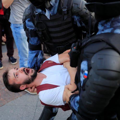 Protestuotojai Maskvoje