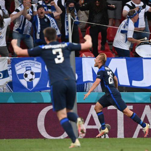 Europos futbolo čempionatas: Danija-Suomija 0:1  © Scanpix nuotr.