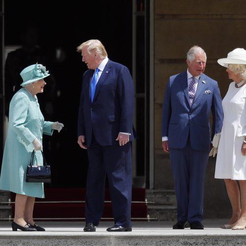 D. Trumpo vizitas Didžiojoje Britanijoje