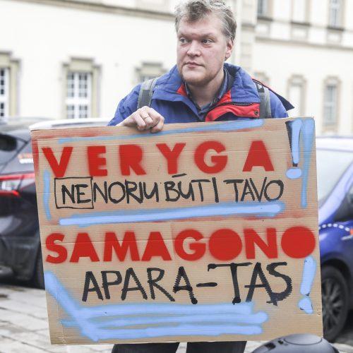 Sergantieji cukriniu diabetu prie SAM surengė piketą  © M. Morkevičiaus / ELTOS nuotr.