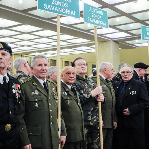 Laisvės gynėjų rikiuotė Laisvės gynėjų galerijoje Seime