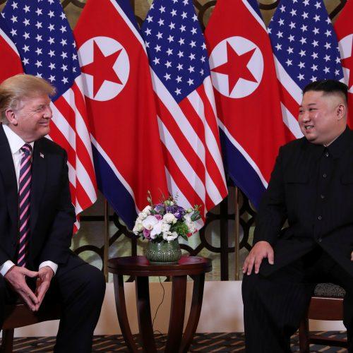 D. Trumpo ir Kim Jong Uno susitikimas Hanojuje  © Scanpix nuotr.