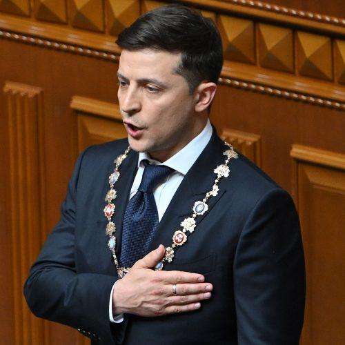 V. Zelenskis prisaikdintas Ukrainos prezidentu