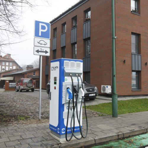Klaipėdoje elektromobiliams – dar viena įkrovimo stotelė  © Vytauto Liaudanskio nuotr.