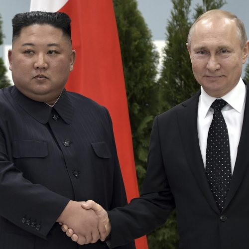 V. Putino ir Kim Jong Uno susitikimas Vladivostoke  © Scanpix nuotr.