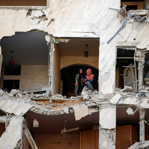 Kruvinos kovos tarp palestiniečių ir Izraelio  © Scanpix nuotr.