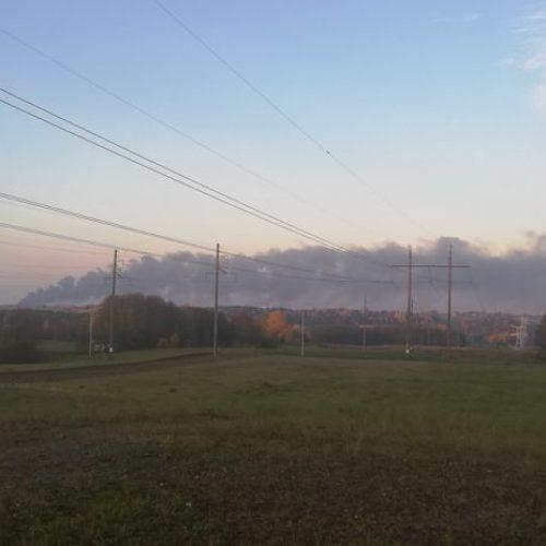Milžiniškas gamyklos gaisras Alytuje  ©