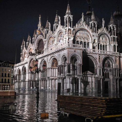 Veneciją užliejo potvynis
