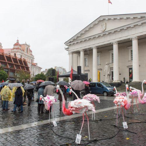 Protesto akcija Vilniuje prieš ribojimus nepasiskiepijusiems  © Butauto Barausko nuotr.