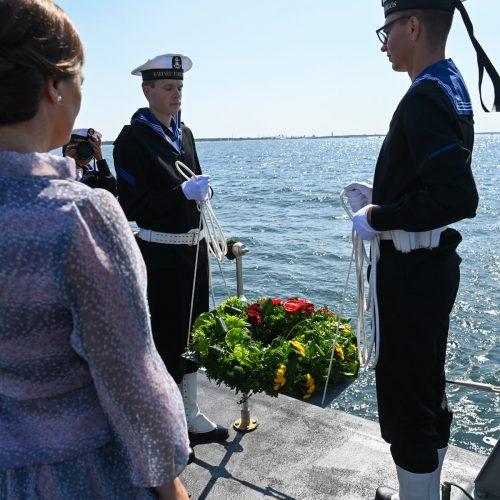 Negrįžusiųjų iš jūros pagerbimo ceremonija