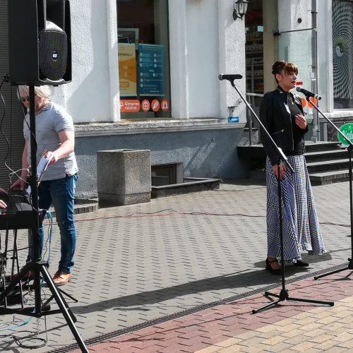 """Klaipėda prisijungė prie akcijos """"Ačiū, Lietuva!""""  © Daivos Pauliukevičienės nuotr."""