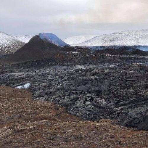 Lietuvis iš arti stebi prabudusį Islandijos ugnikalnį  © Asmeninio archyvo nuotr.