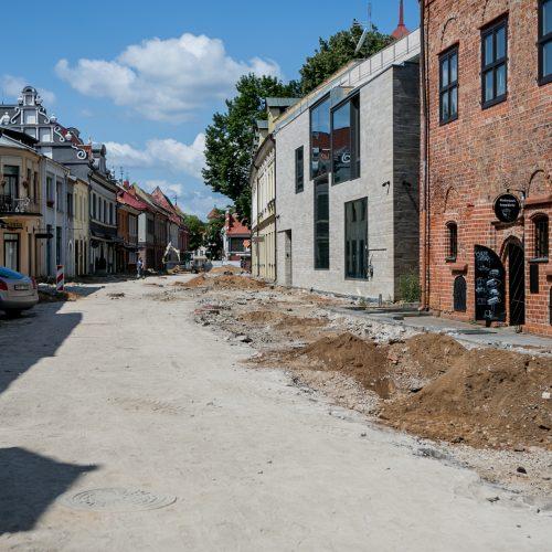 Vilniaus gatvės rekonstrukcija pažėrė pirmuosius lobius  © Vilmanto Raupelio, skaitytojo nuotr.