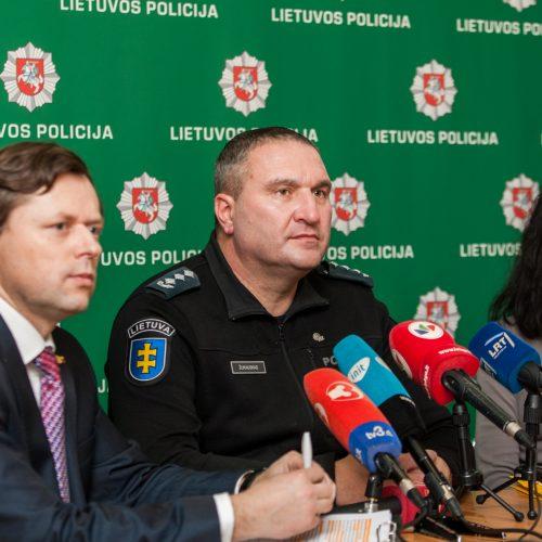 Spaudos konferencija apie tarptautinio masto operaciją   © Laimio Steponavičiaus nuotr.