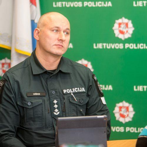 Spaudos konferencija dėl korupcijos skandalo Kauno policijoje  © Vilmanto Raupelio nuotr.