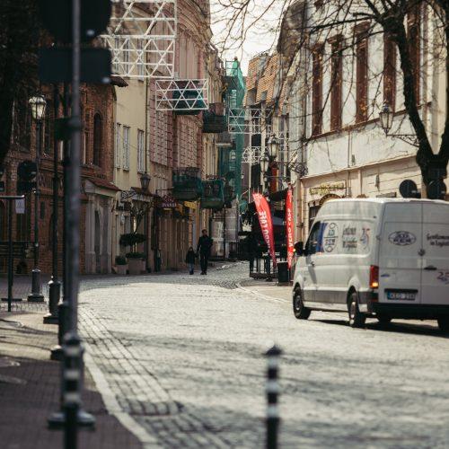 Pirmoji karantino diena Lietuvoje  © I. Gelūno / Fotobanko nuotr.