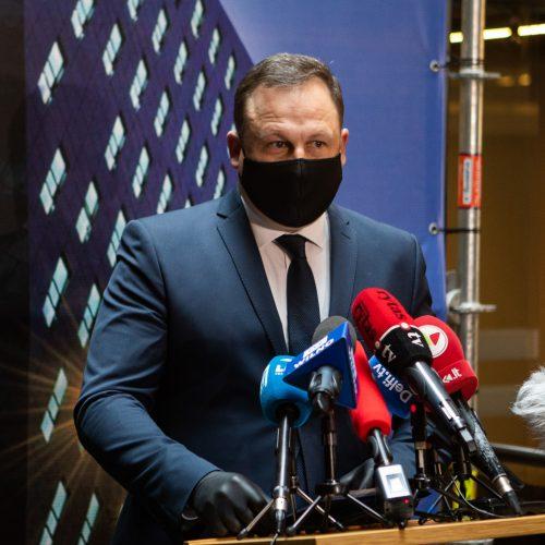 Spaudos konferencija dėl korupcinių nusikaltimų teisėsaugoje