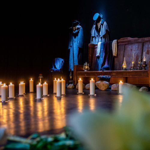Vilniaus mažajame teatre atsisveikinama su mirusiu aktoriumi G. Girdvainiu  © I. Gelūno / Fotobanko nuotr.