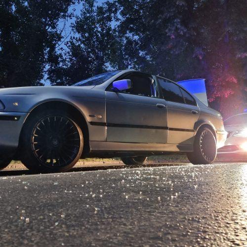 Girto BMW vairuotojo gaudynės Kaune  © Eitvydo Kinaičio nuotr.