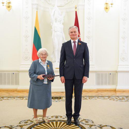 G. Nausėda įteikė valstybinius apdovanojimus   © R. Dačkaus / Prezidentūros nuotr.