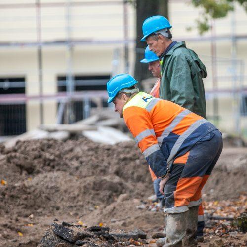 S.Dariaus ir S.Girėno stadione dirba sunkioji technika  © Justinos Lasauskaitės nuotr.