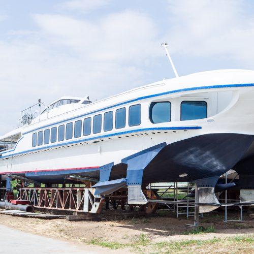 """""""Raketos"""" tipo laivas plukdys iš Kauno į Nidą  © Laimio Steponavičiaus nuotr."""
