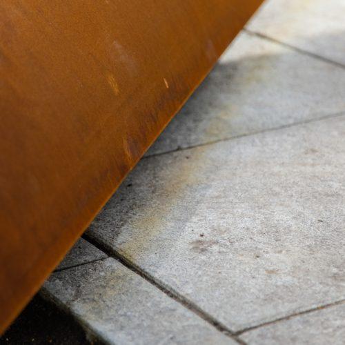 Gėlynas prie Kauno savivaldybės bjauroja naująjį grindinį  © Laimio Steponavičiaus nuotr.
