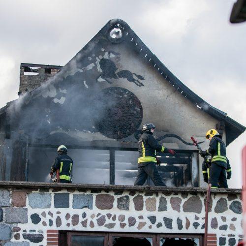 Ringauduose – sprogimas ir didžiulis gaisras