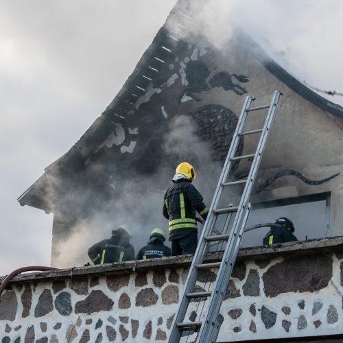 Ringauduose – sprogimas ir didžiulis gaisras  © Justinos Lasauskaitės nuotr.